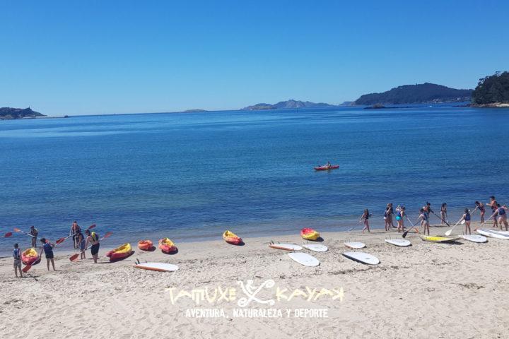 Tablas de paddle surf y kayaks en Baiona